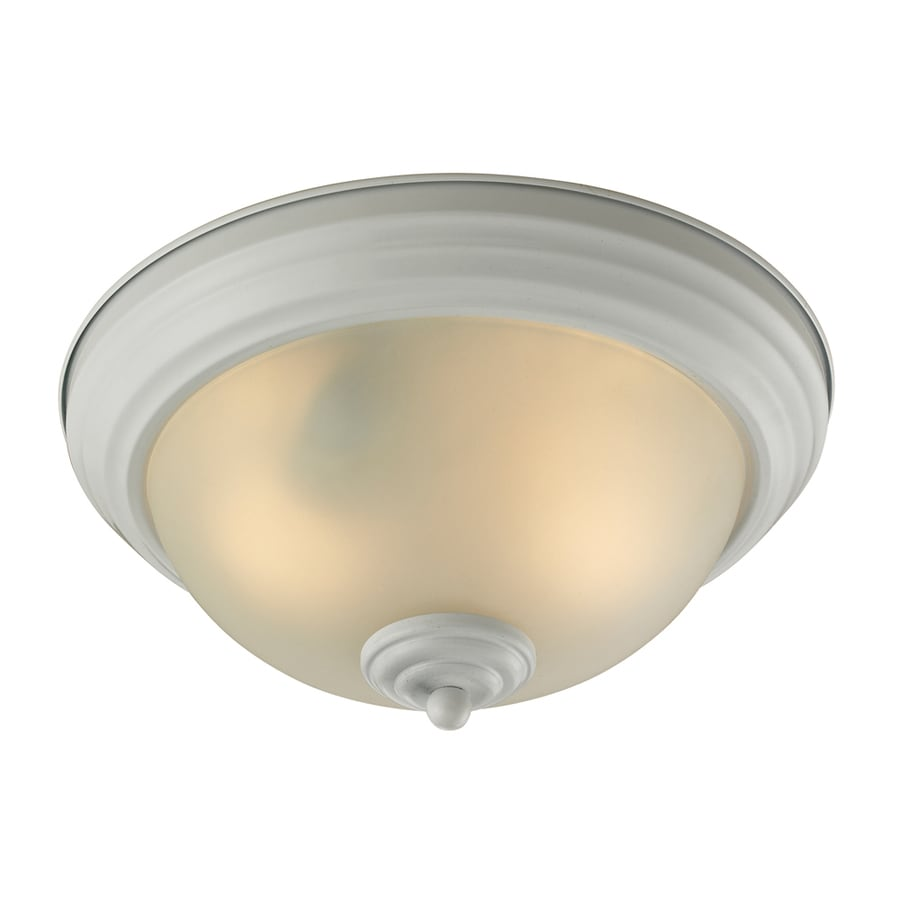 Westmore Lighting 11-in W White Flush Mount Light