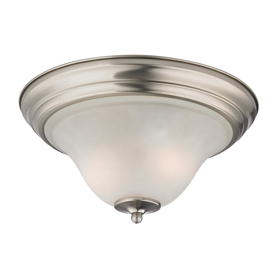 Westmore Lighting Rutherford 13-in W Brushed Nickel Flush Mount Light
