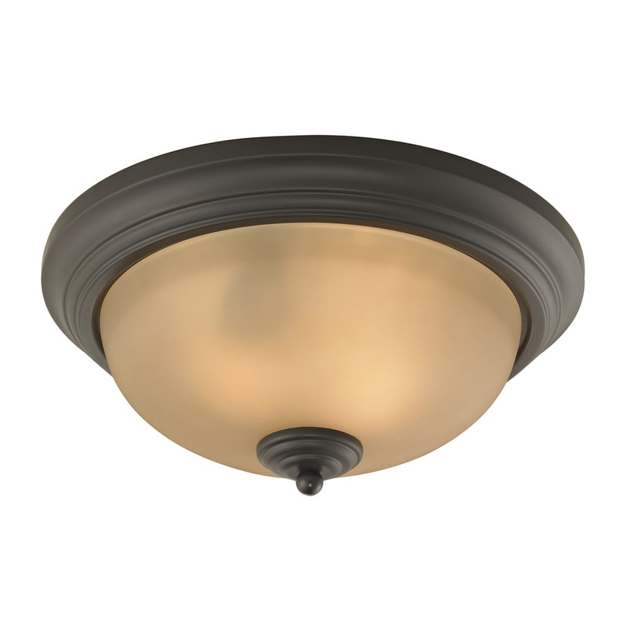Westmore Lighting 13-in W Oil rubbed bronze Flush Mount Light