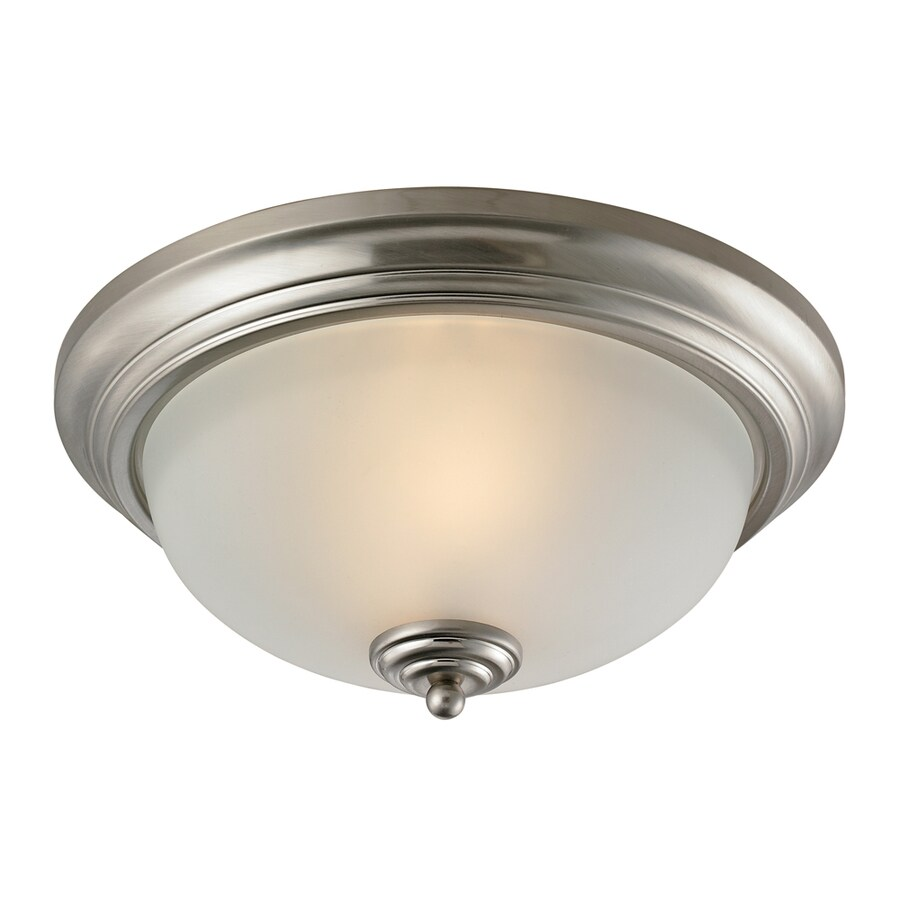 Westmore Lighting 13-in W Brushed Nickel Standard Flush Mount Light