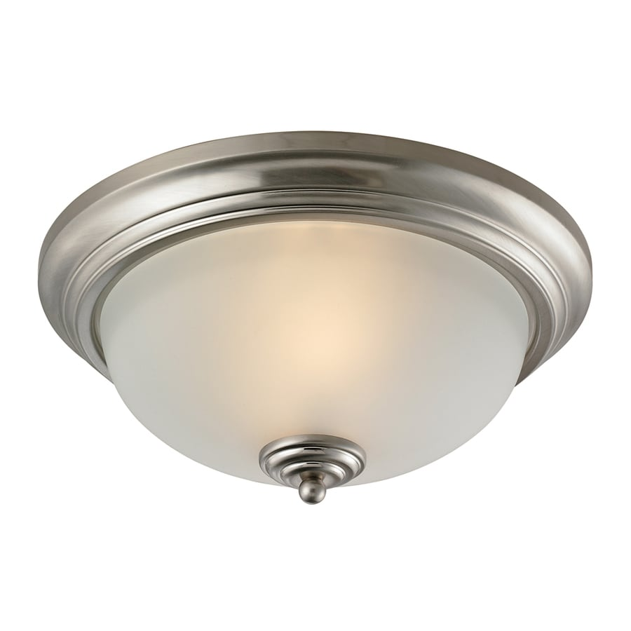 Westmore Lighting 13-in W Brushed Nickel Ceiling Flush Mount Light