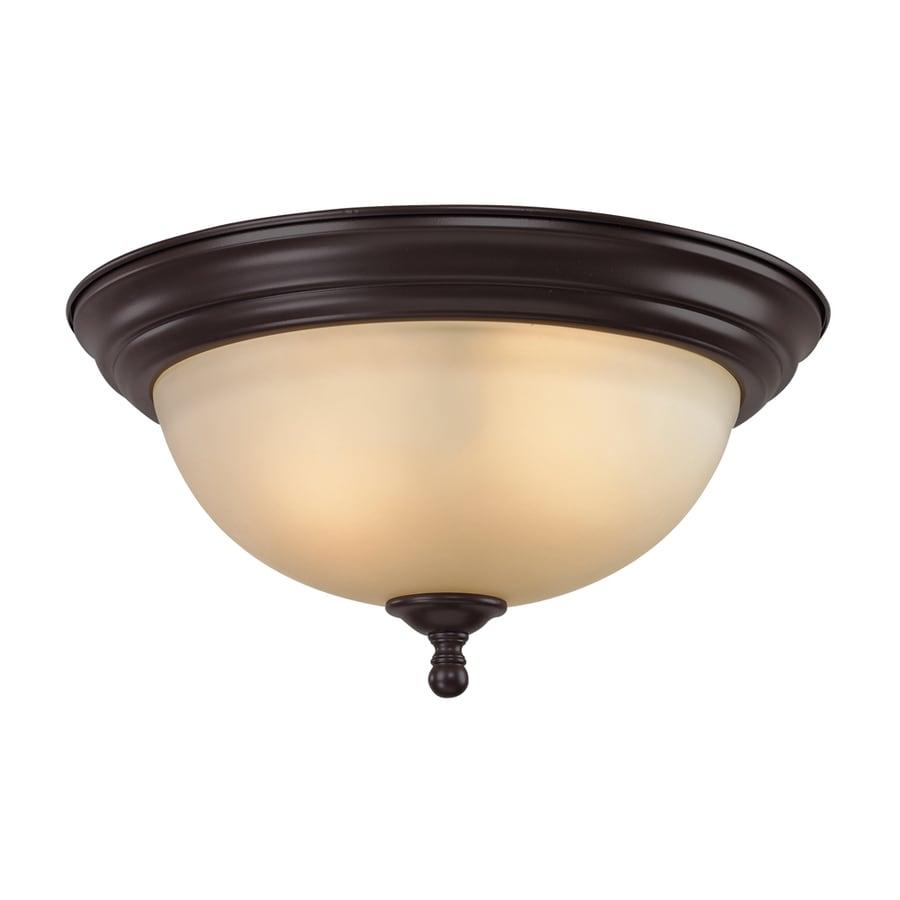 Westmore Lighting Sunbury 13-in W Oil rubbed bronze Flush Mount Light