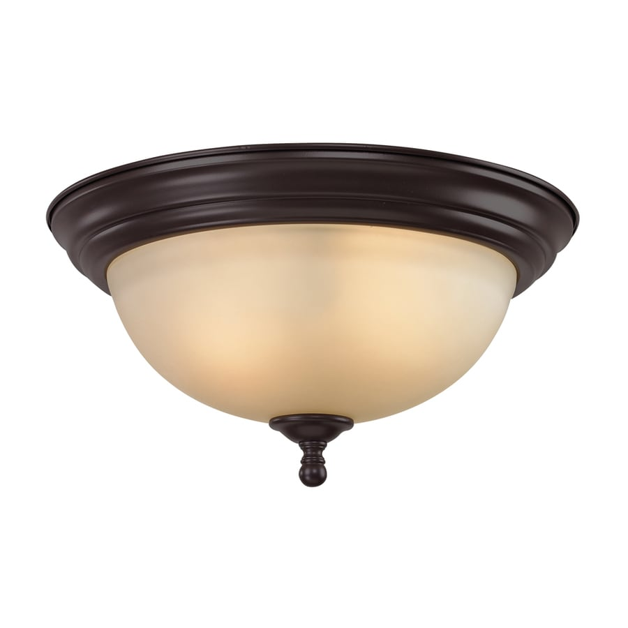 Westmore Lighting Sunbury 13-in W Oil Rubbed Bronze Flush Mount Light
