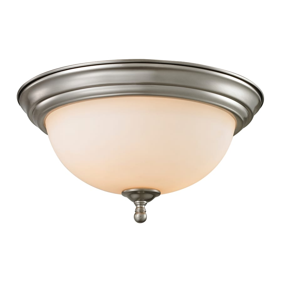 Westmore Lighting Sunbury 13-in W Brushed nickel LED Flush Mount Light