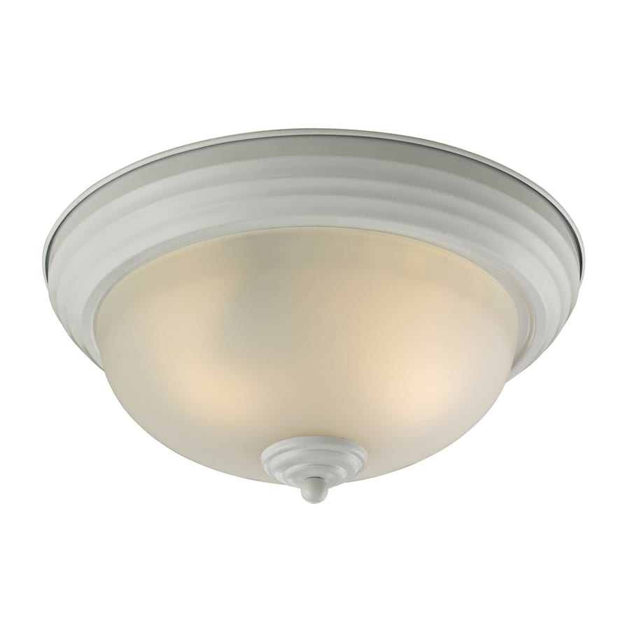 Westmore Lighting 13-in W White Flush Mount Light