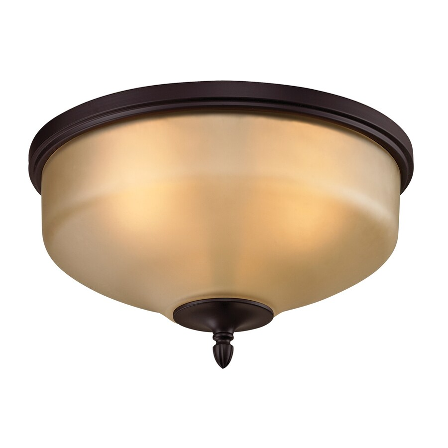 Westmore Lighting Fillmore 15-in W Oil Rubbed Bronze Ceiling Flush Mount Light
