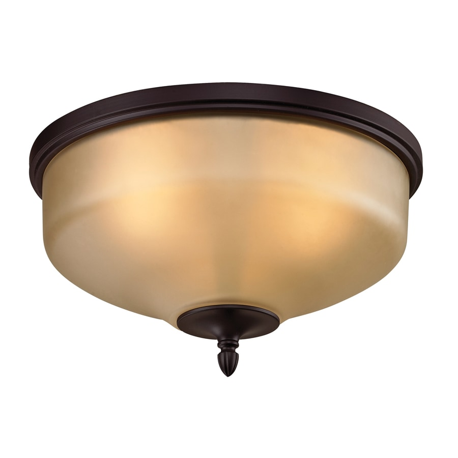 Westmore Lighting Fillmore 15-in W Oil Rubbed Bronze LED Flush Mount Light