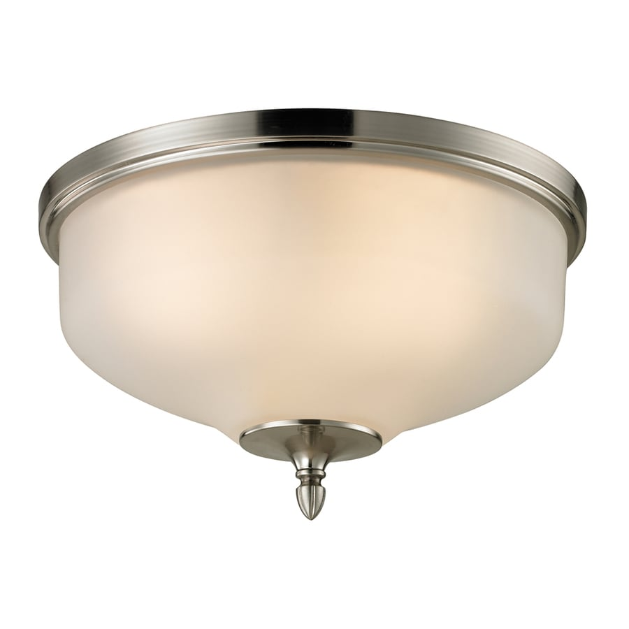Westmore Lighting Fillmore 15-in W Brushed Nickel LED Flush Mount Light