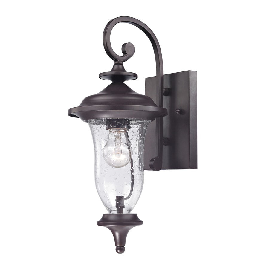 lighting laurelwood 16 in h oil rubbed bronze outdoor wall light at