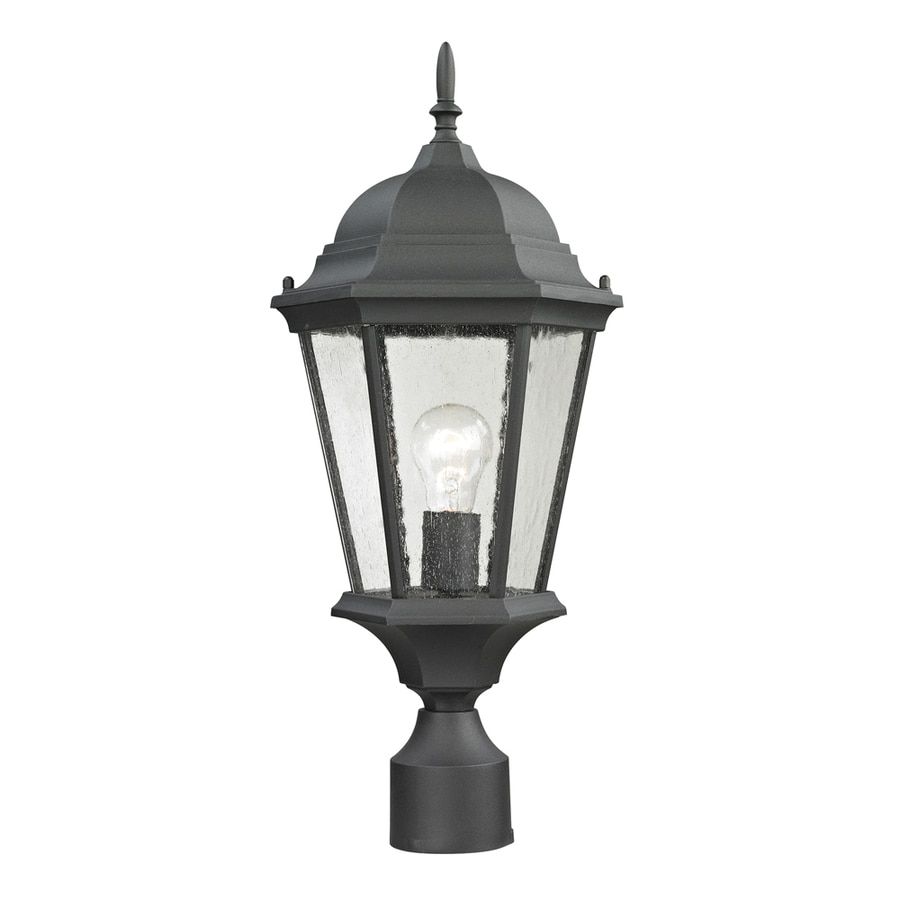 Westmore Lighting Fleming 17.5-in H Matte Textured Black Post Light