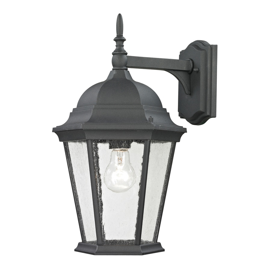 Westmore Lighting Fleming 18-in H Matte Textured Black Outdoor Wall Light  sc 1 st  Loweu0027s & Shop Westmore Lighting Fleming 18-in H Matte Textured Black ... azcodes.com