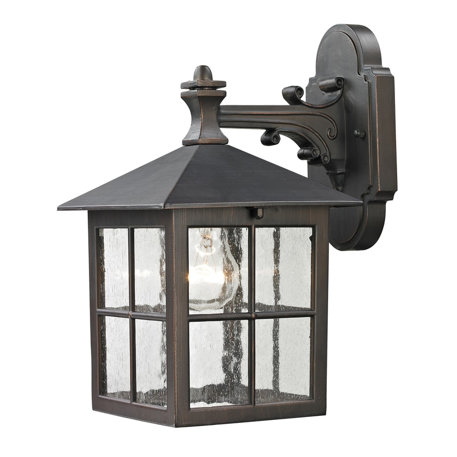 Westmore Lighting Colchester 10-in H Hazelnut Bronze Outdoor Wall Light