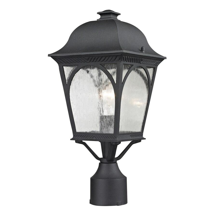 Westmore Lighting Albansville 13-in H Matte Textured Black Post Light