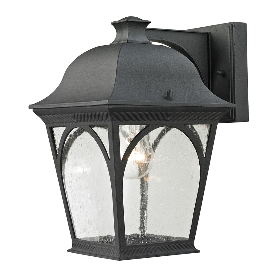 Westmore Lighting Albansville 9.5-in H Matte Textured Black Outdoor Wall Light