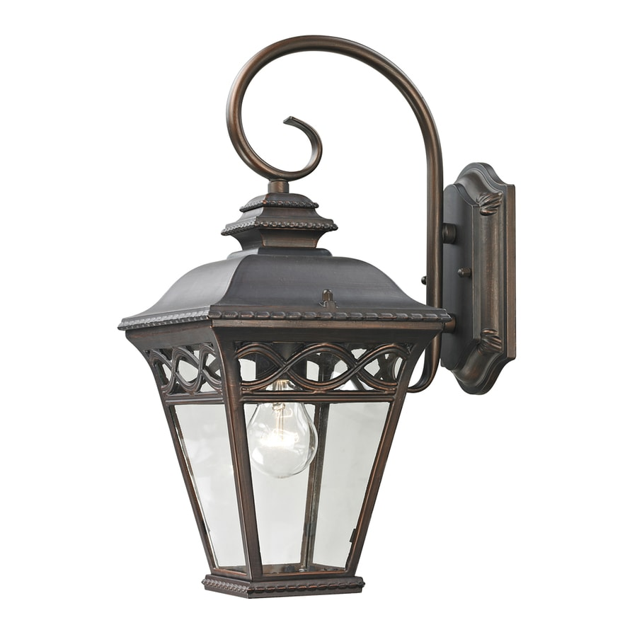 Westmore Lighting Beauport 16.4-in H Hazelnut Bronze Outdoor Wall Light