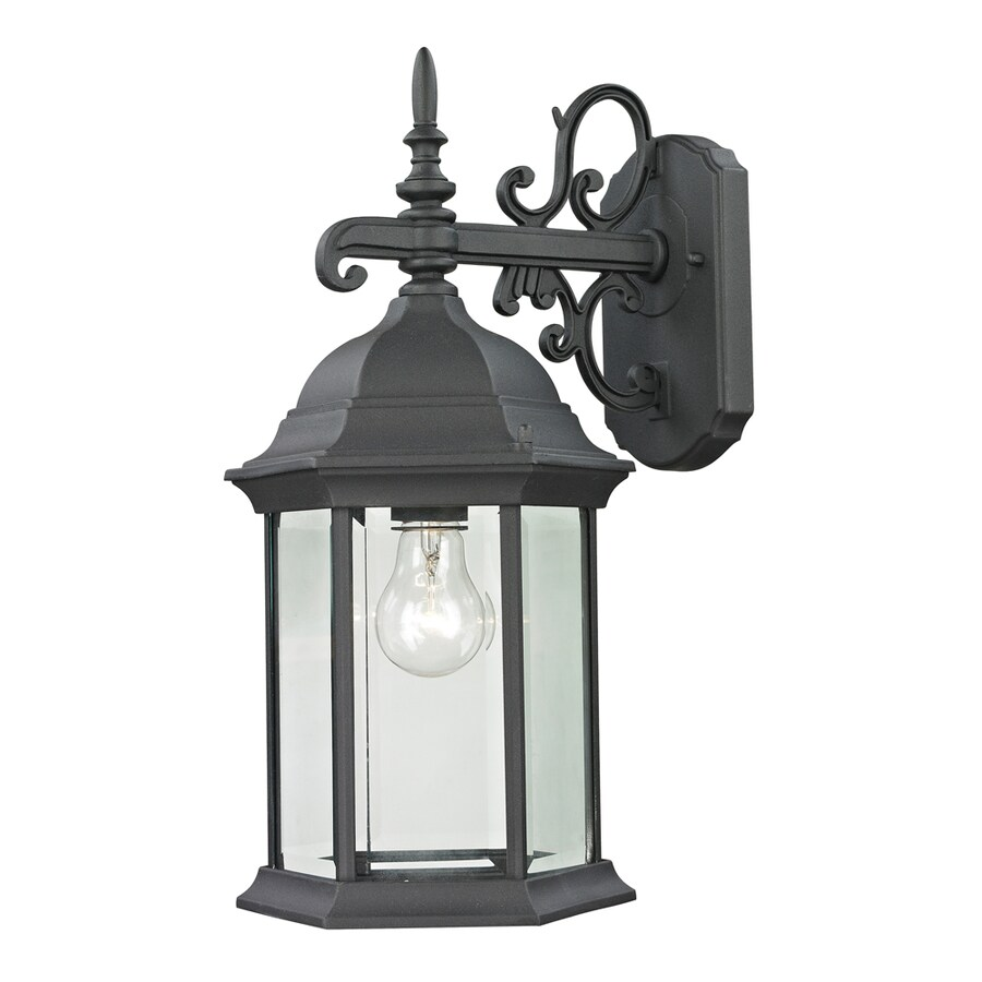 Westmore Lighting Issidore 16.5-in H Matte Textured Black Outdoor Wall Light