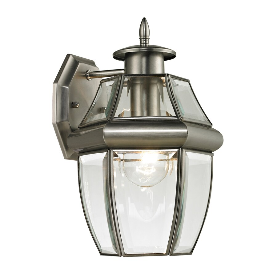 Westmore Lighting Keswick 12-in H Antique Nickel Outdoor Wall Light