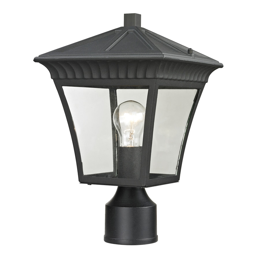 Westmore Lighting Colebrook 14.5-in H Matte Textured Black Post Light