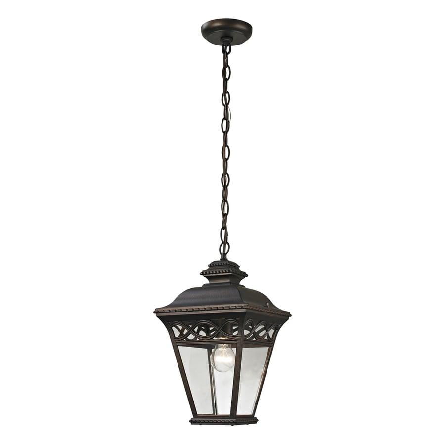 Westmore Lighting Beauport 16.2-in Hazelnut Bronze Outdoor Pendant Light