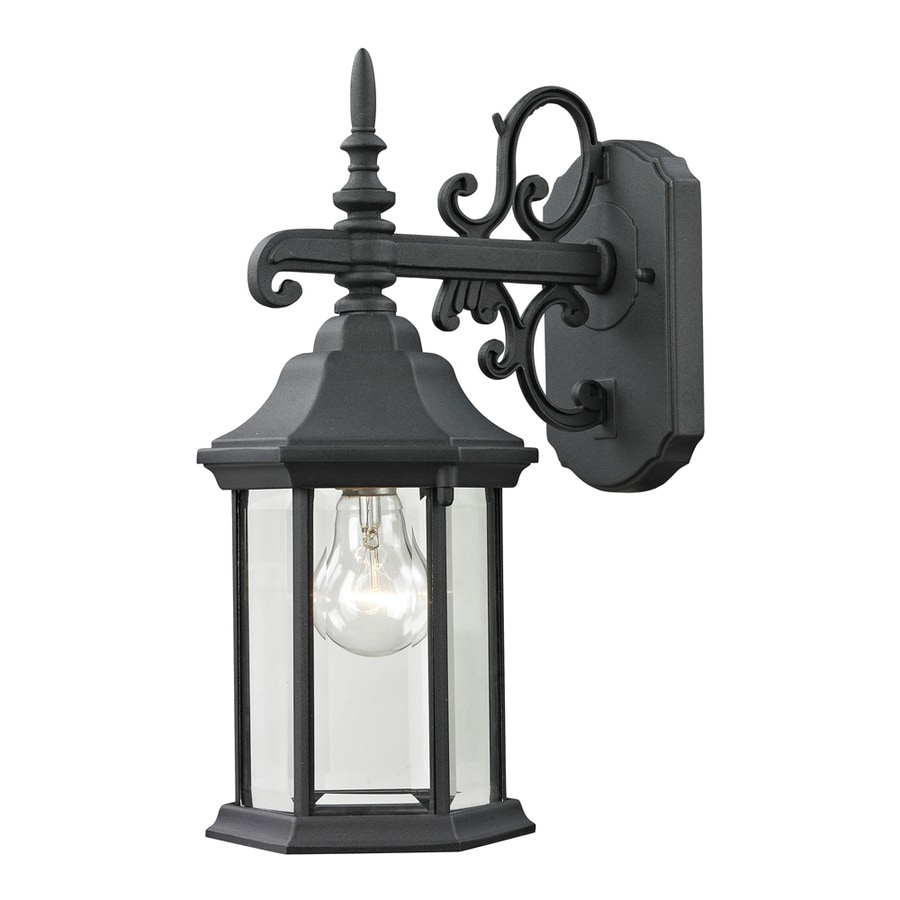 Westmore Lighting Issidore 15-in H Matte Textured Black Outdoor Wall Light