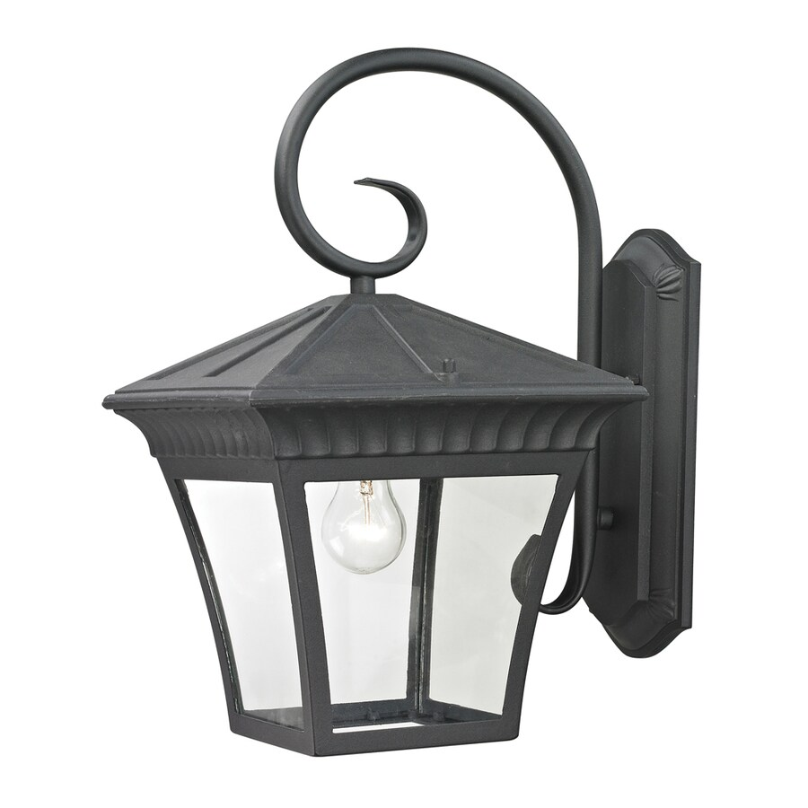 Westmore Lighting Colebrook 18.3-in H Matte Textured Black Outdoor Wall Light