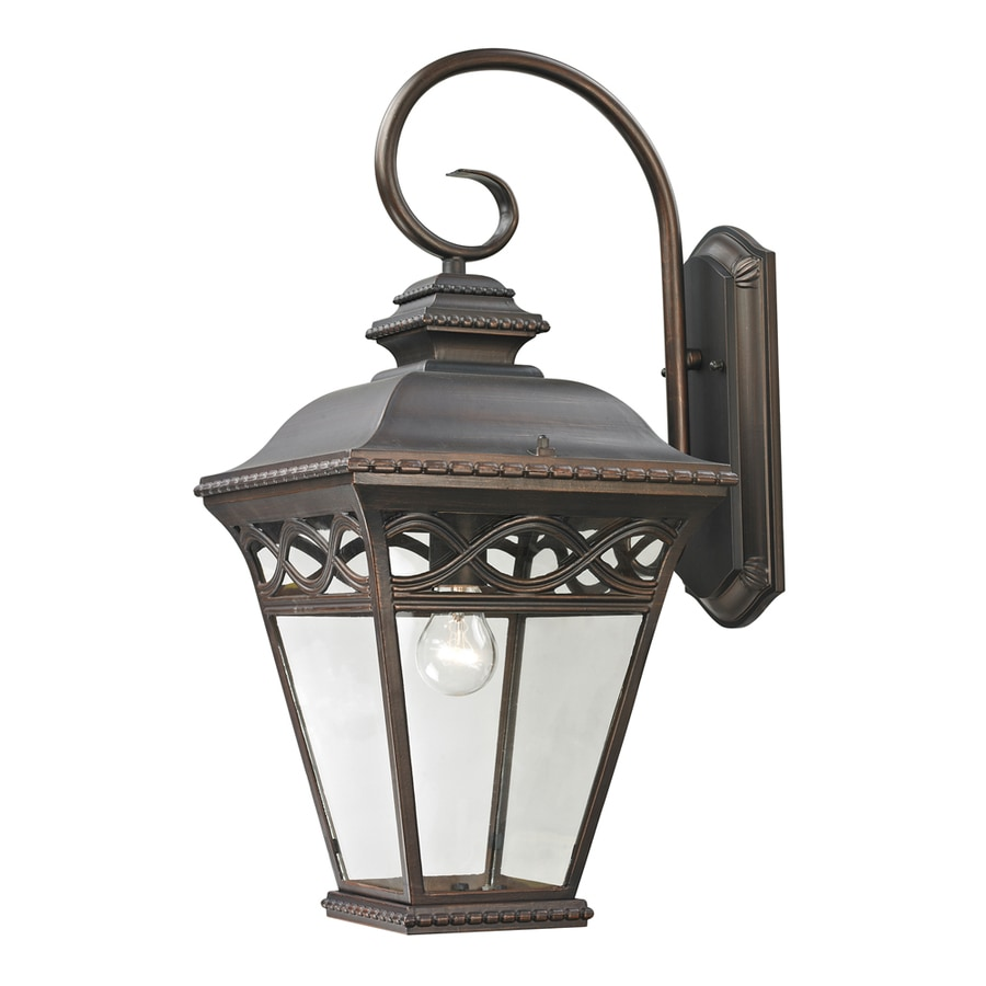 Westmore Lighting Beauport 23.6-in H Hazelnut Bronze Outdoor Wall Light