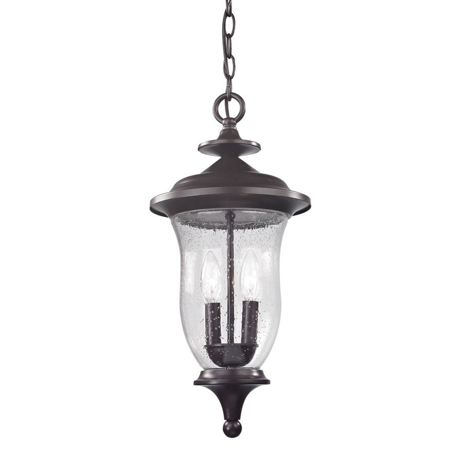 Westmore Lighting Laurelwood 20-in Oil-Rubbed Bronze Outdoor Pendant Light