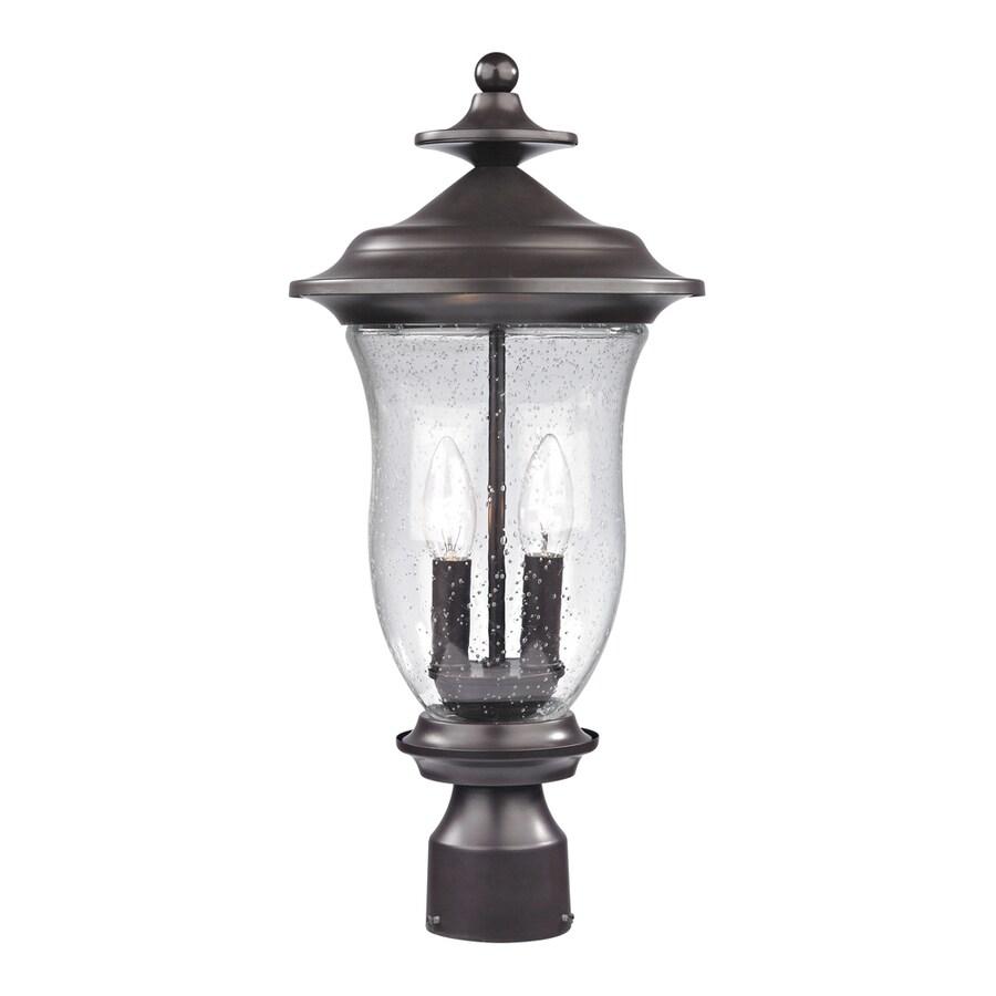 Westmore Lighting Laurelwood 20-in H Oil Rubbed Bronze Post Light