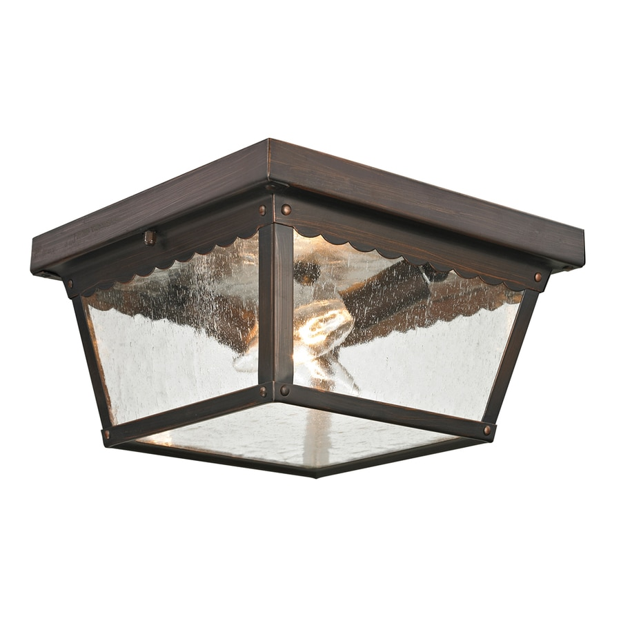 Westmore Lighting Coventry 10-in W Hazelnut Bronze Outdoor Flush-Mount Light