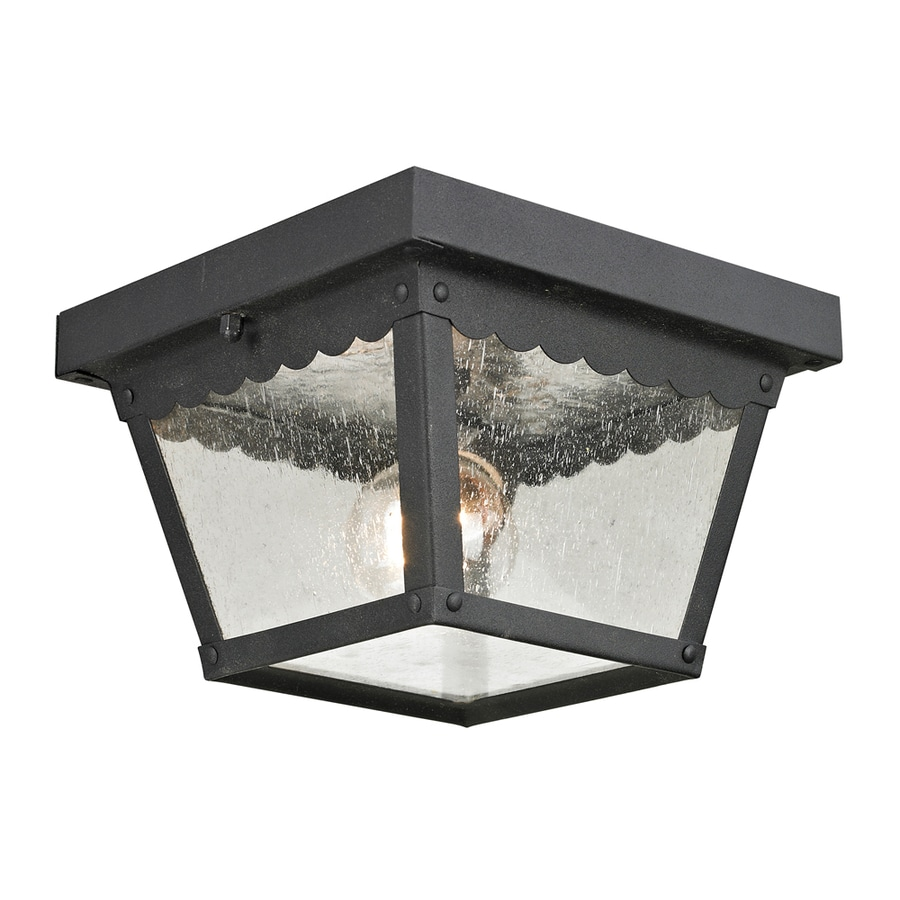 Westmore Lighting Coventry 8.4-in W Matte Textured Black Outdoor Flush-Mount Light