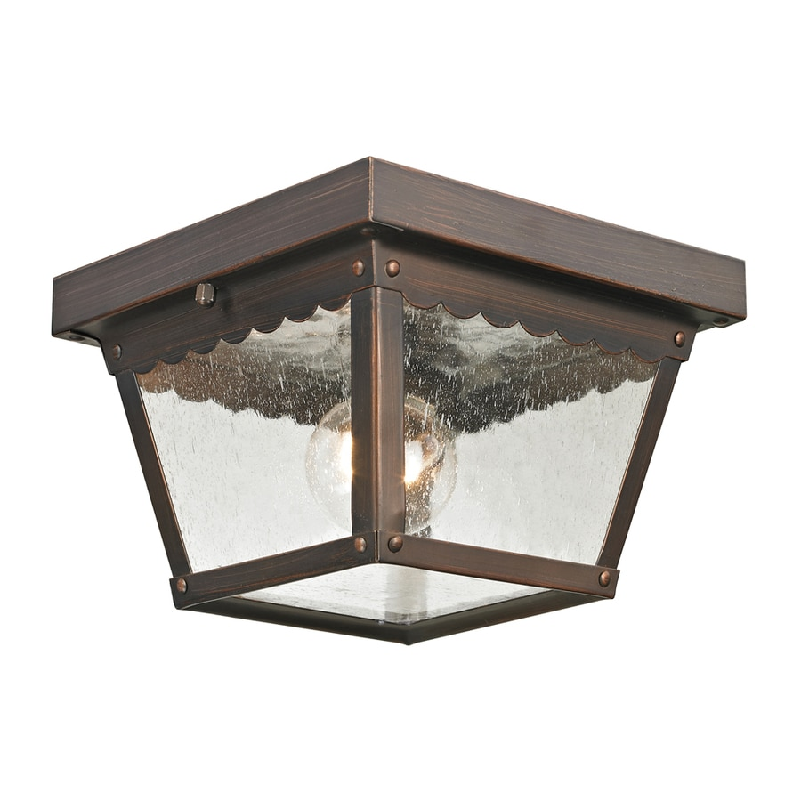 Westmore Lighting Coventry 8.4-in W Hazelnut Bronze Outdoor Flush-Mount Light