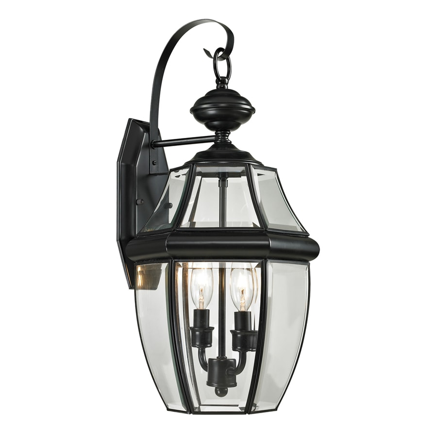 Westmore Lighting Keswick 21-in H Black Outdoor Wall Light