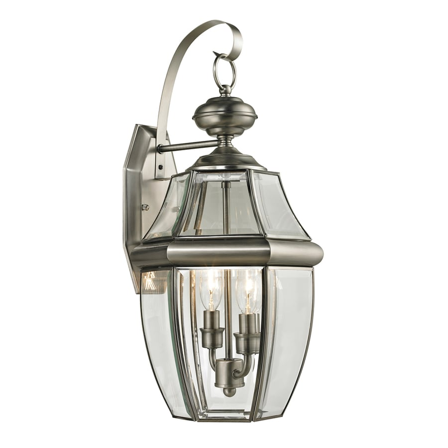 Westmore Lighting Keswick 21-in H Antique Nickel Outdoor Wall Light