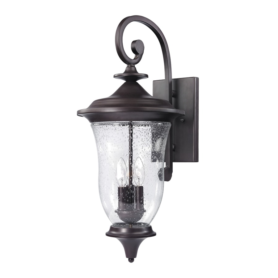 Westmore Lighting Laurelwood 26-in H Oil-Rubbed Bronze Outdoor Wall Light