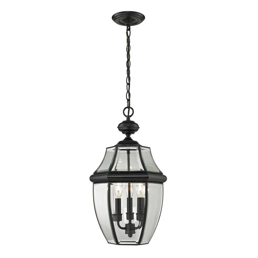 Westmore Lighting Keswick 21-in Black Outdoor Pendant Light