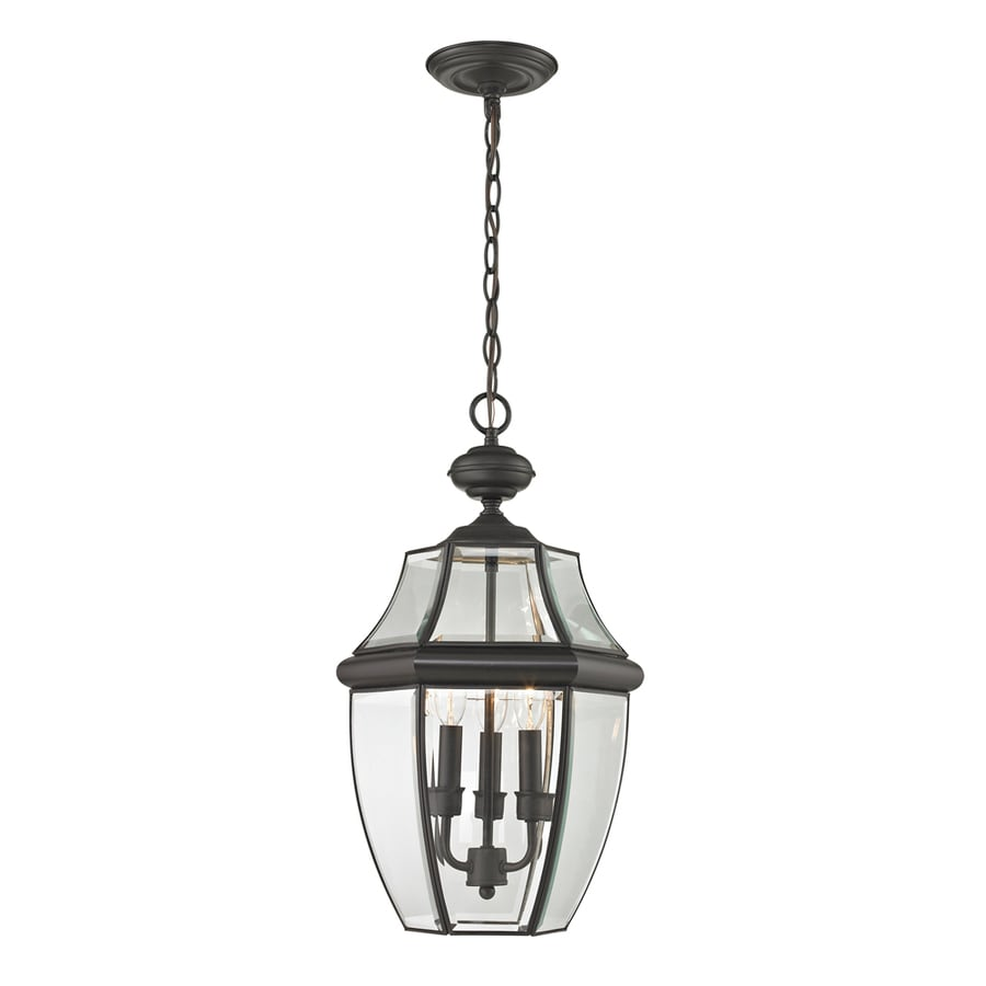 Westmore Lighting Keswick 21-in Oil-Rubbed Bronze Outdoor Pendant Light
