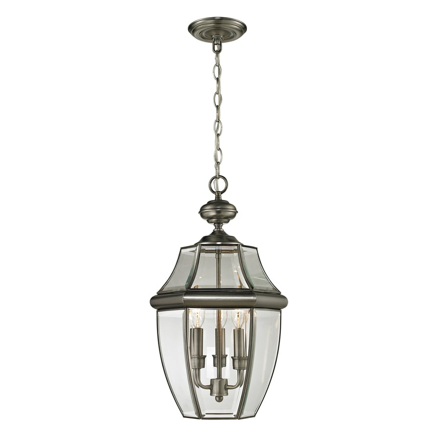 Shop westmore lighting keswick 21 in antique nickel Outdoor pendant lighting
