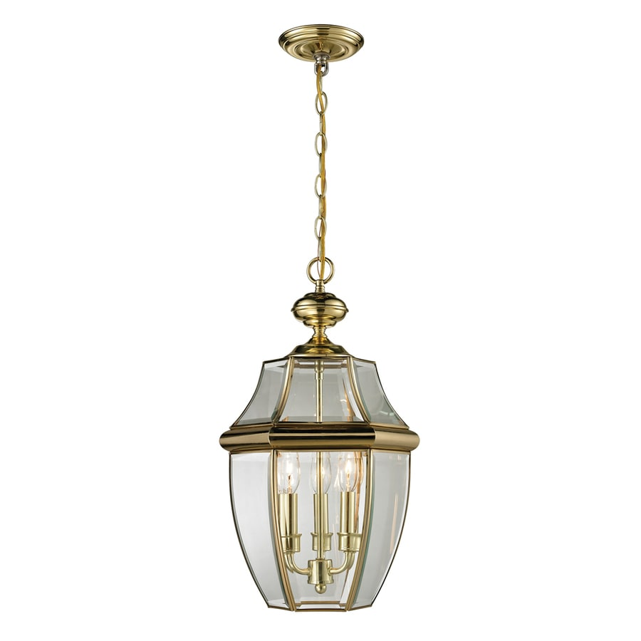 shop westmore lighting keswick 21 in antique brass outdoor pendant light at lowes