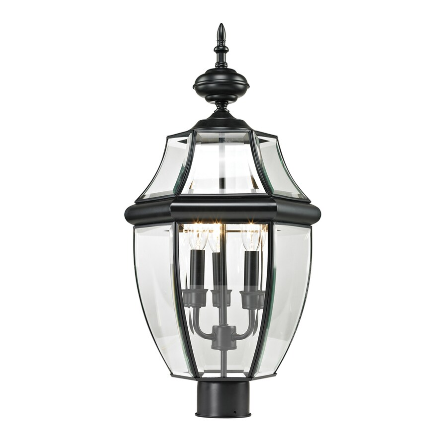 Westmore Lighting Keswick 23-in H Black Post Light