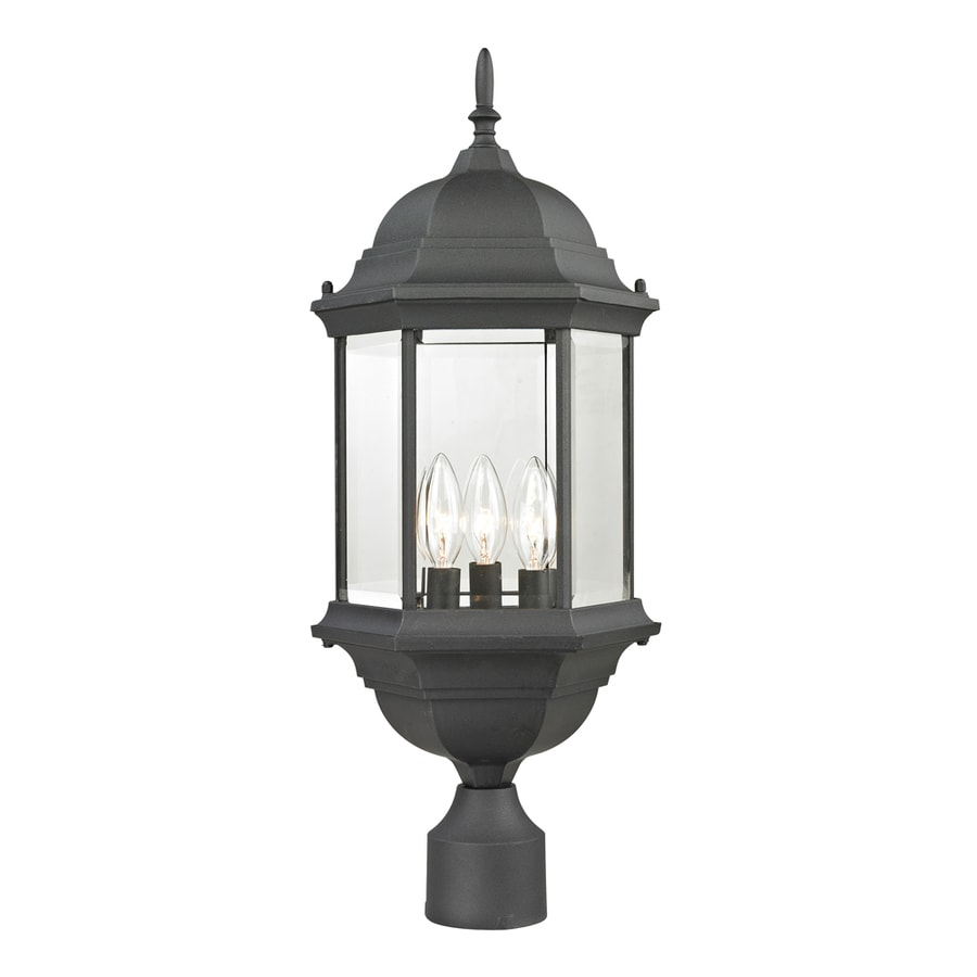 Westmore Lighting Issidore 23.3-in H Matte Textured Black Post Light