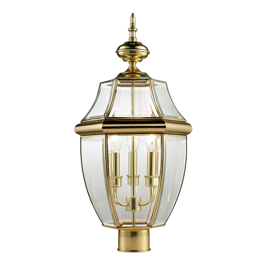 Westmore Lighting Keswick 23-in H Antique Brass Post Light