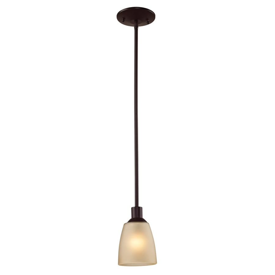 Westmore Lighting Fillmore 4-in Oil Rubbed Bronze Vintage Mini Tinted Glass Dome Pendant