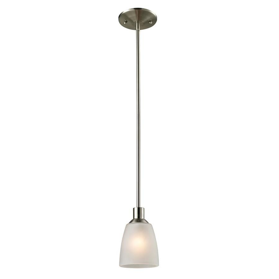 Westmore Lighting Fillmore 4-in Brushed Nickel Vintage Mini Tinted Glass Dome Pendant