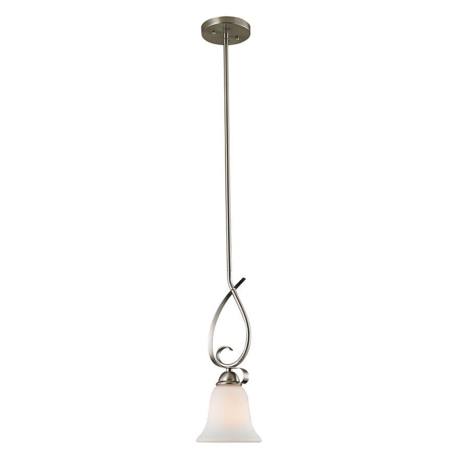 Westmore Lighting Colchester 4-in Brushed Nickel Vintage Mini Tinted Glass Dome Pendant