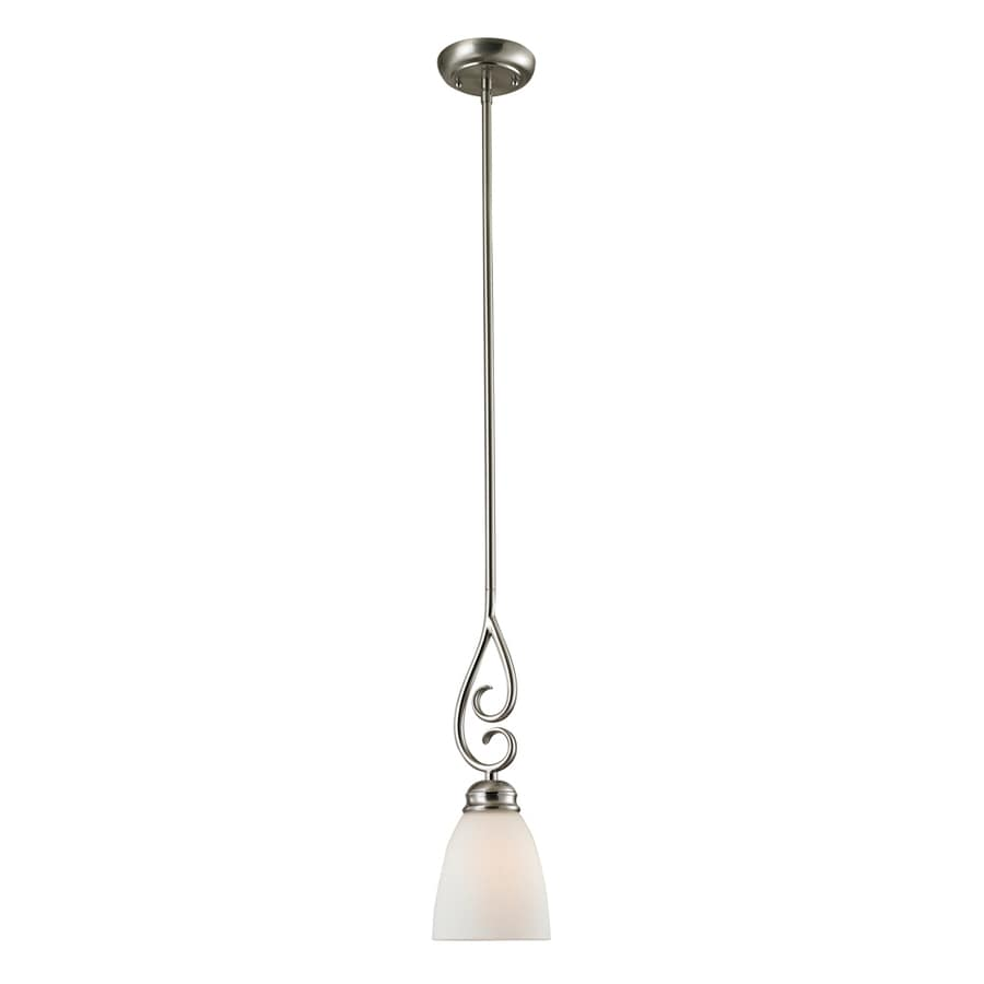 Westmore Lighting Sunbury 4-in Brushed Nickel Vintage Mini Tinted Glass Dome Pendant