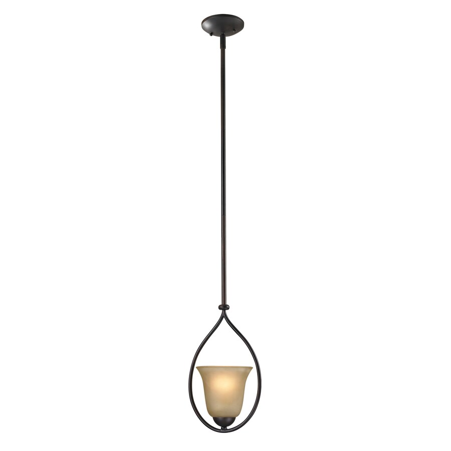 Westmore Lighting Ashland 4-in Oil Rubbed Bronze Vintage Mini Tinted Glass Dome Pendant