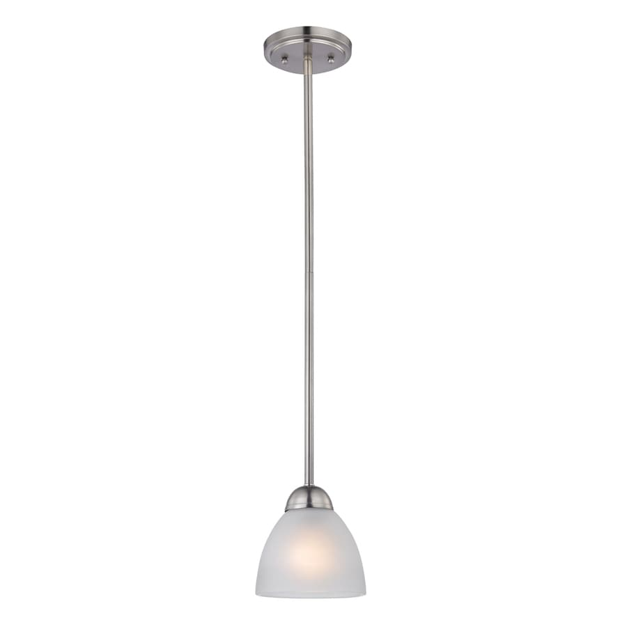 Westmore Lighting Rutherford 4-in Brushed Nickel Vintage Mini Tinted Glass Dome Pendant