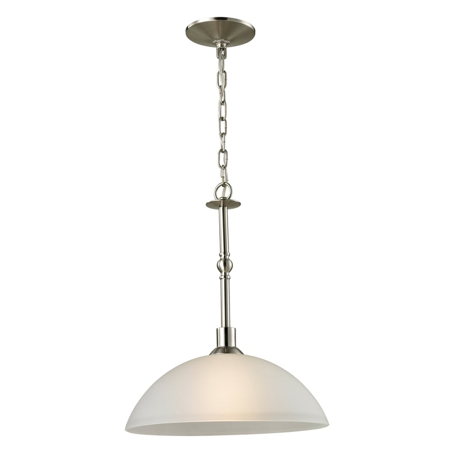 Westmore Lighting Fillmore 6-in Brushed Nickel Single Tinted Glass Bell Pendant
