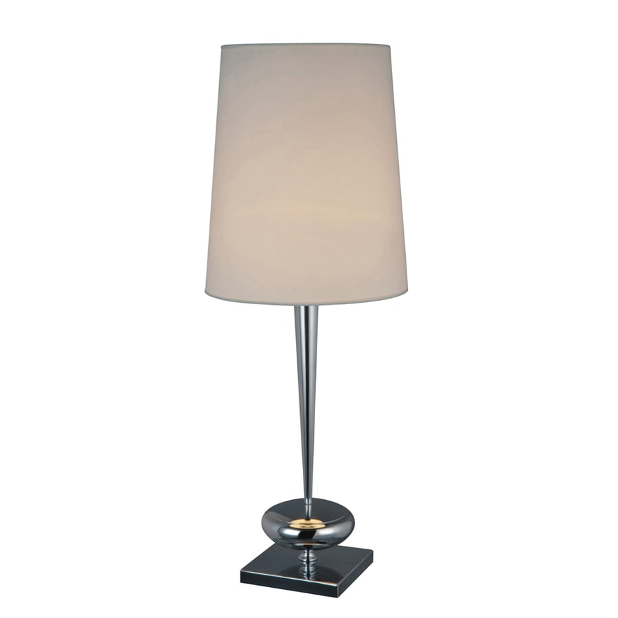 Westmore Lighting Mora 36-in Chrome Standard 3-Way Switch Table Lamp with Fabric Shade