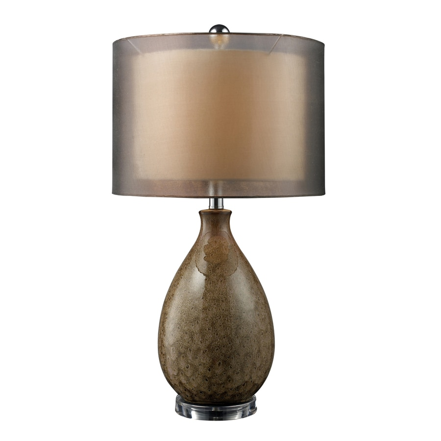 Westmore Lighting Hartzell 28-in Fawn Standard 3-Way Switch Table Lamp with Fabric Shade